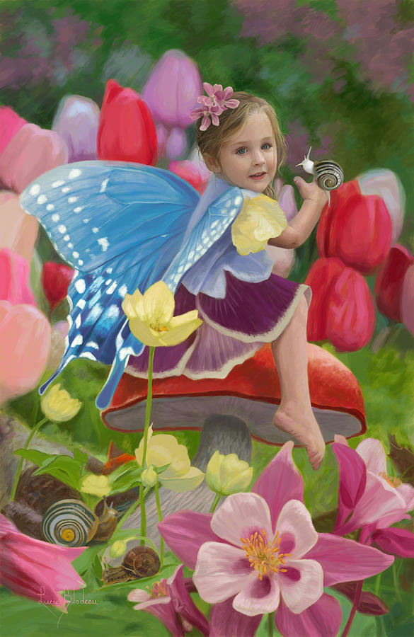 Fairy Painting - Spring Fairy by Lucie Bilodeau
