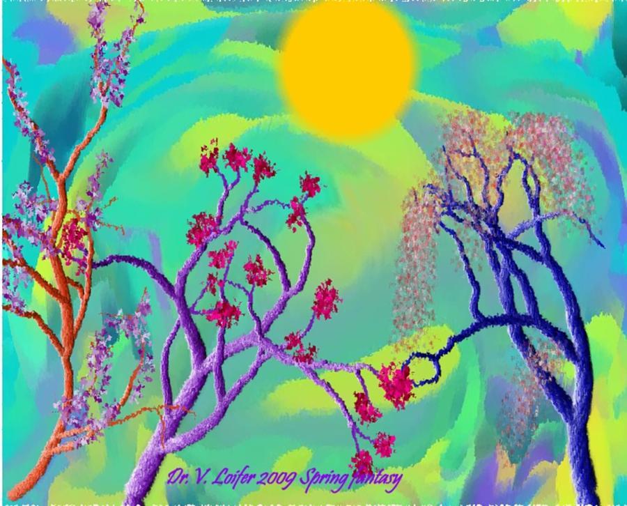 Spring Digital Art - Spring Fantasy by Dr Loifer Vladimir