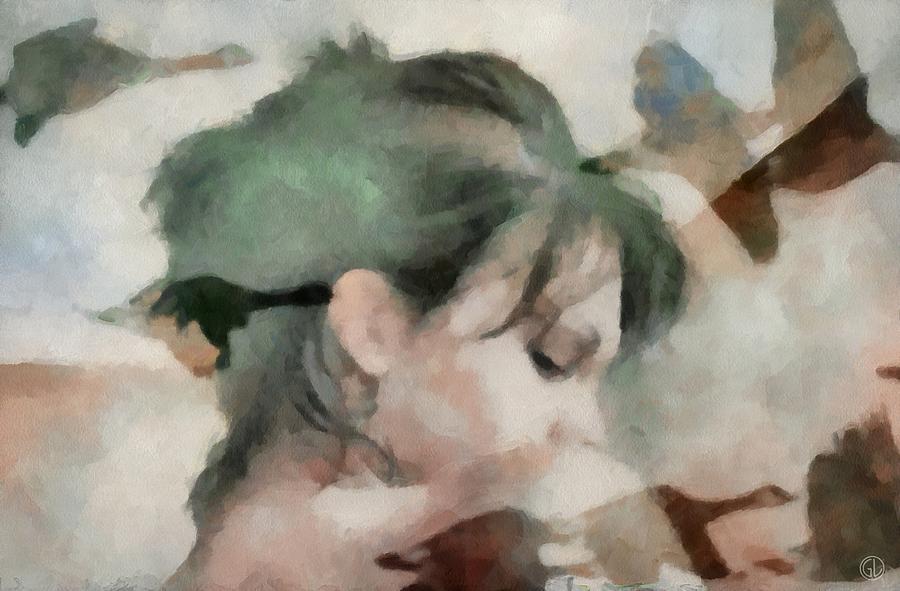 Girl Digital Art - Spring Feelings Come With The Birds by Gun Legler