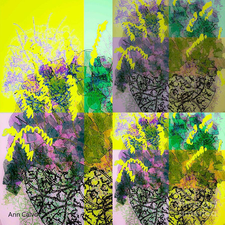 Flower Mixed Media - Spring Floral by Ann Calvo