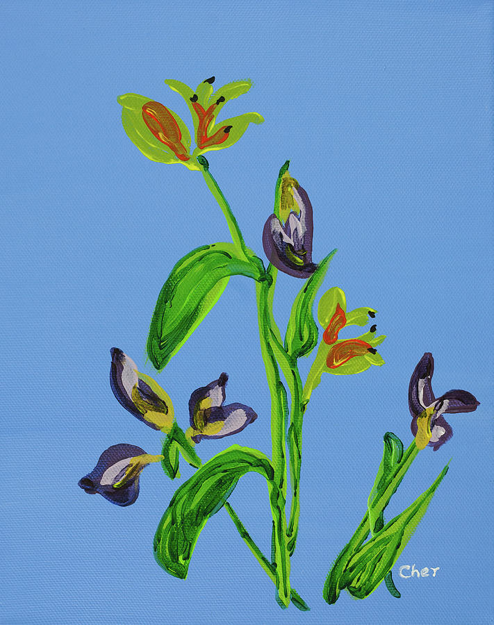 Flowers Painting - Spring Florals by Cheryl Phillips