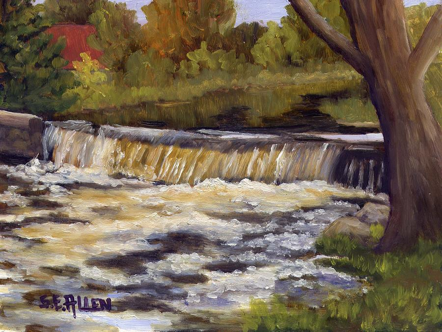 Water Painting - Spring Flow by Sharon E Allen