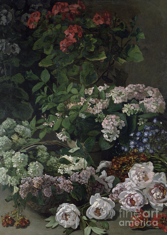 Still-life Painting - Spring Flowers by Claude Monet
