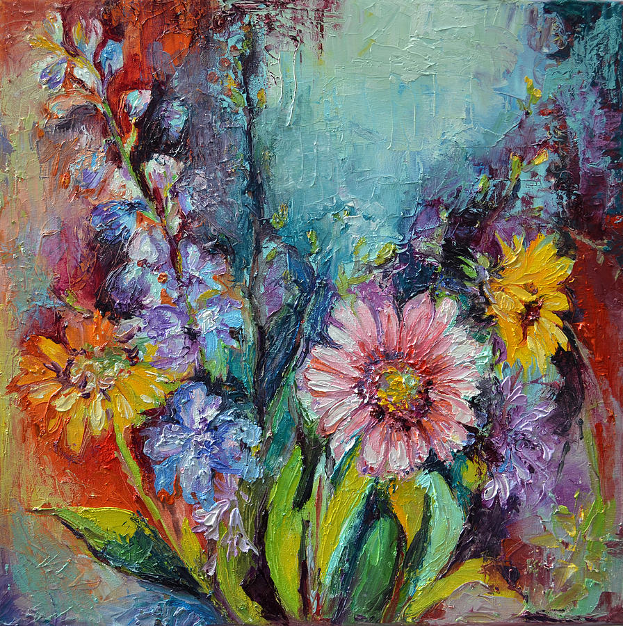 spring flowers gerbera oil relief painting painting by