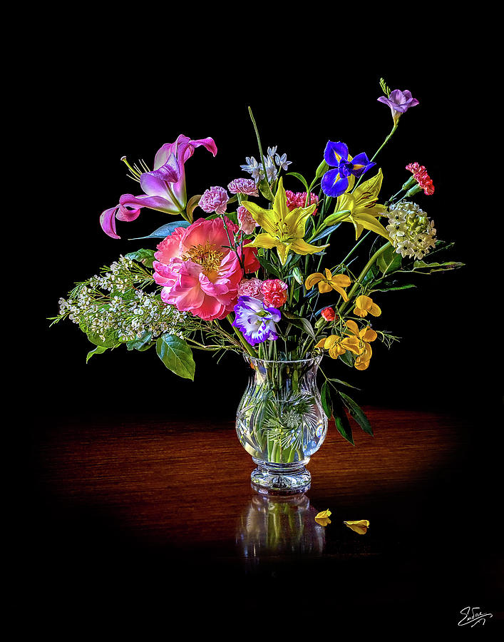 Spring Flowers In A Crystal Vase Photograph By Endre Balogh