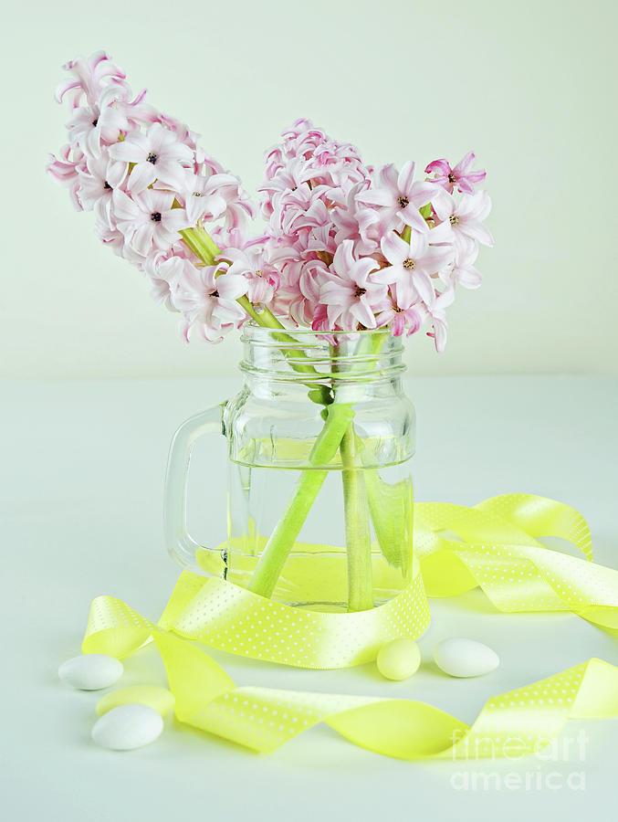 Glass Photograph - Spring Flowers by Kira Yan