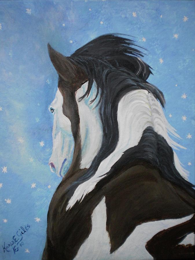 Paint Painting - Spring Flurries by Karen Giles