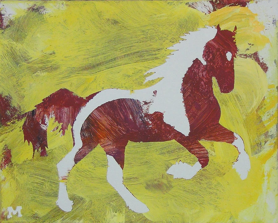 Horse Painting - Spring Forward by Candace Shrope