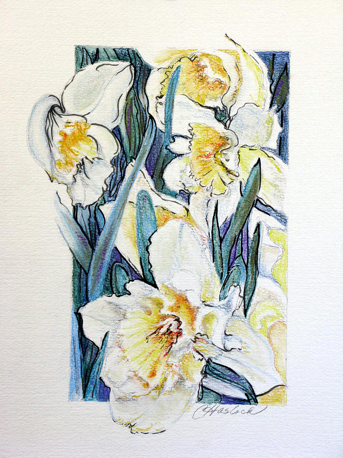 Floral Pastel - Spring Frills by Carole Haslock