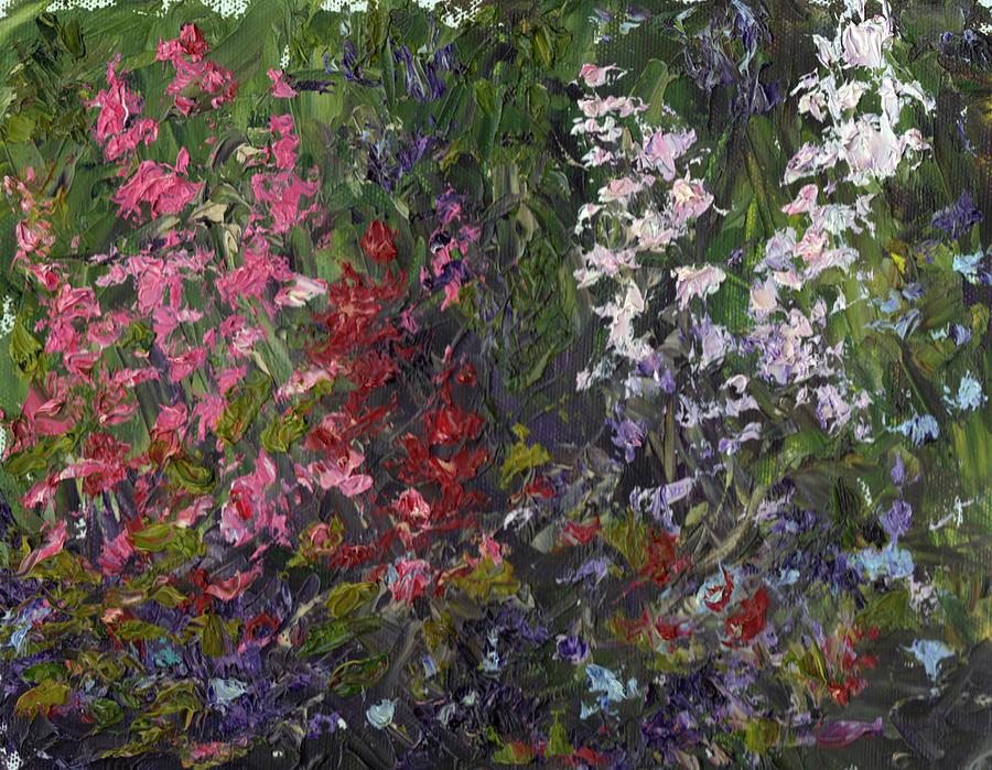 Palette Knife Painting - Spring Garden by Diane Martens