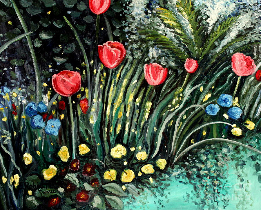 Impressionistic Painting - Spring Garden by Elizabeth Robinette Tyndall
