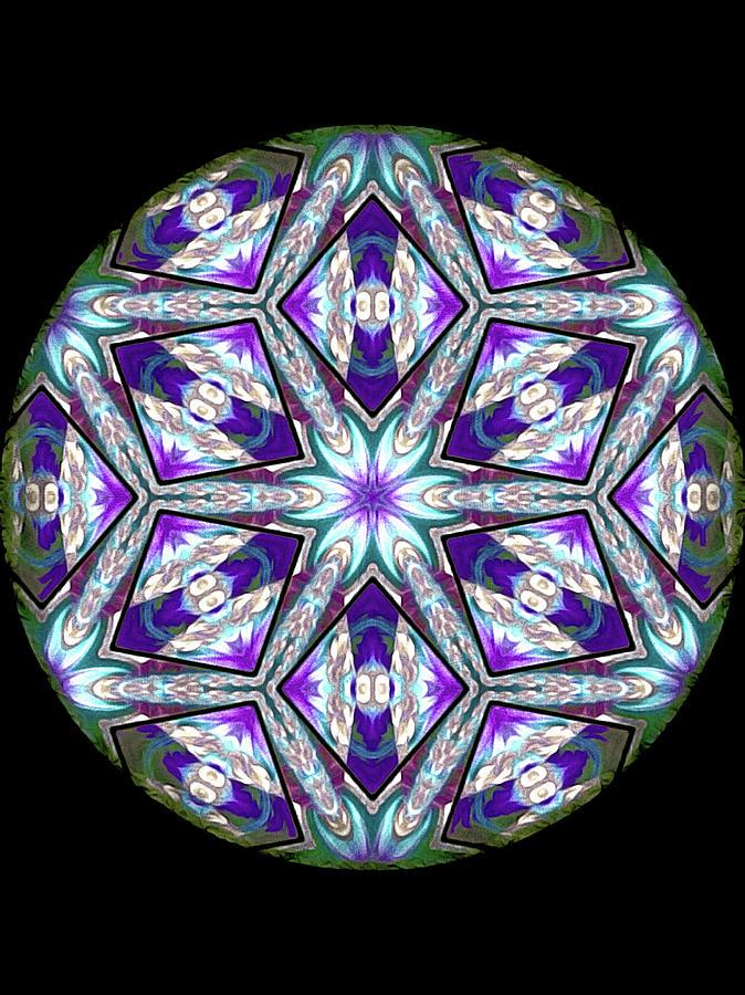 Mandala Digital Art - Spring Garden Mandala by Susan Maxwell Schmidt