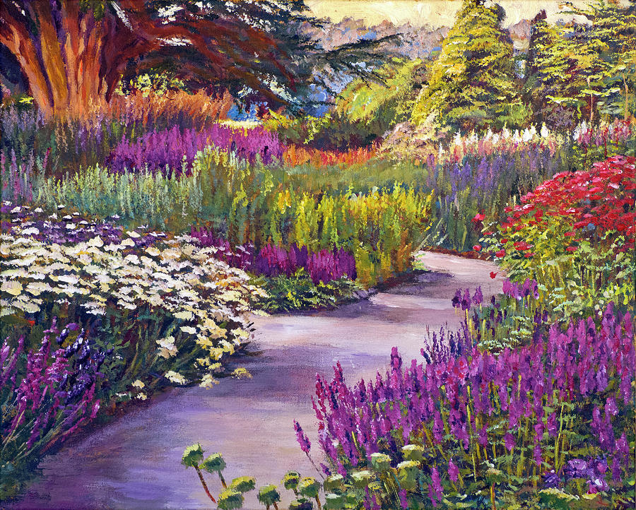 Spring Garden Path Painting By David Lloyd Glover