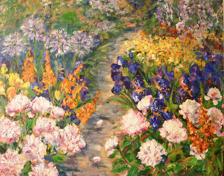 Spring Garden Painting By Sonia Von Walter