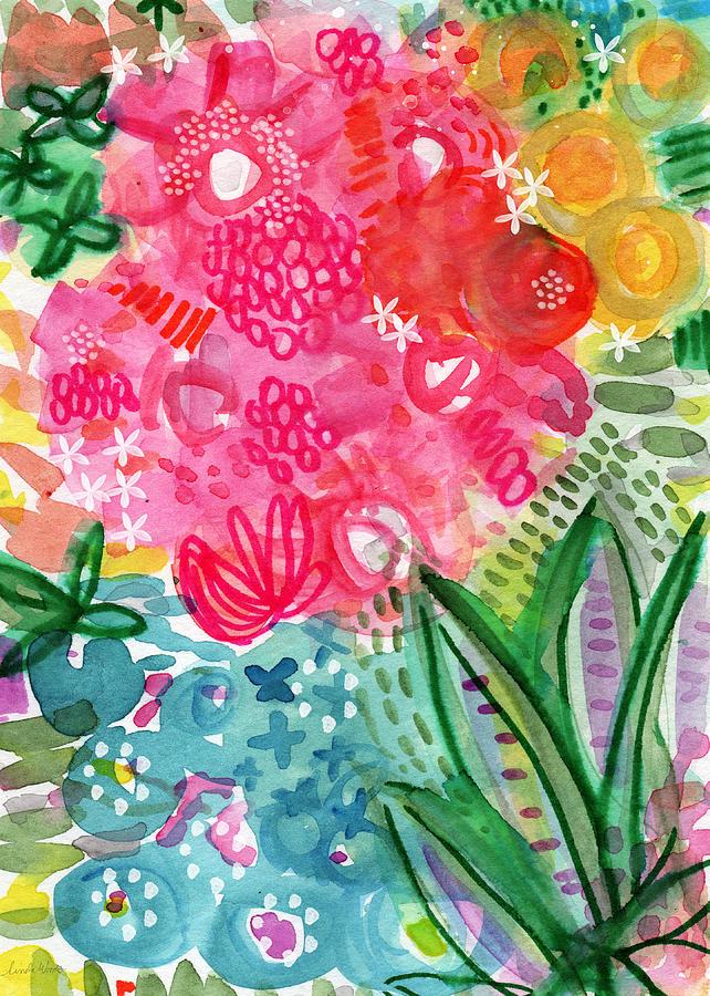 Spring Garden- Watercolor Art Painting
