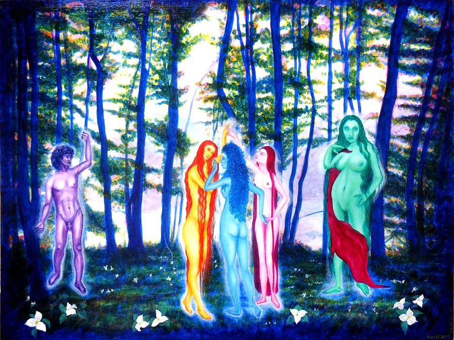 Goddess Painting - Spring Grove by Tom Hefko