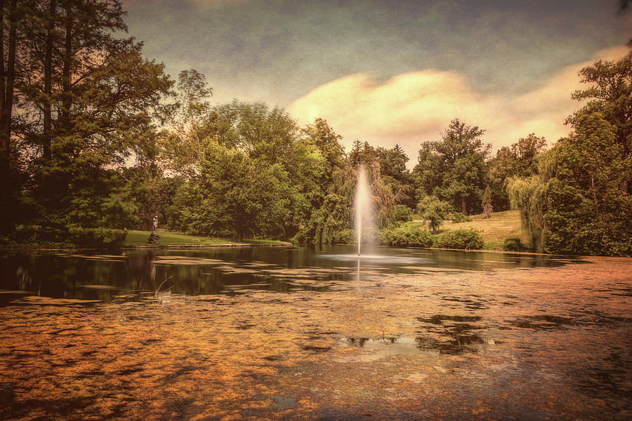 Arboretum Photograph - Spring Grove Water Feature by Tom Mc Nemar