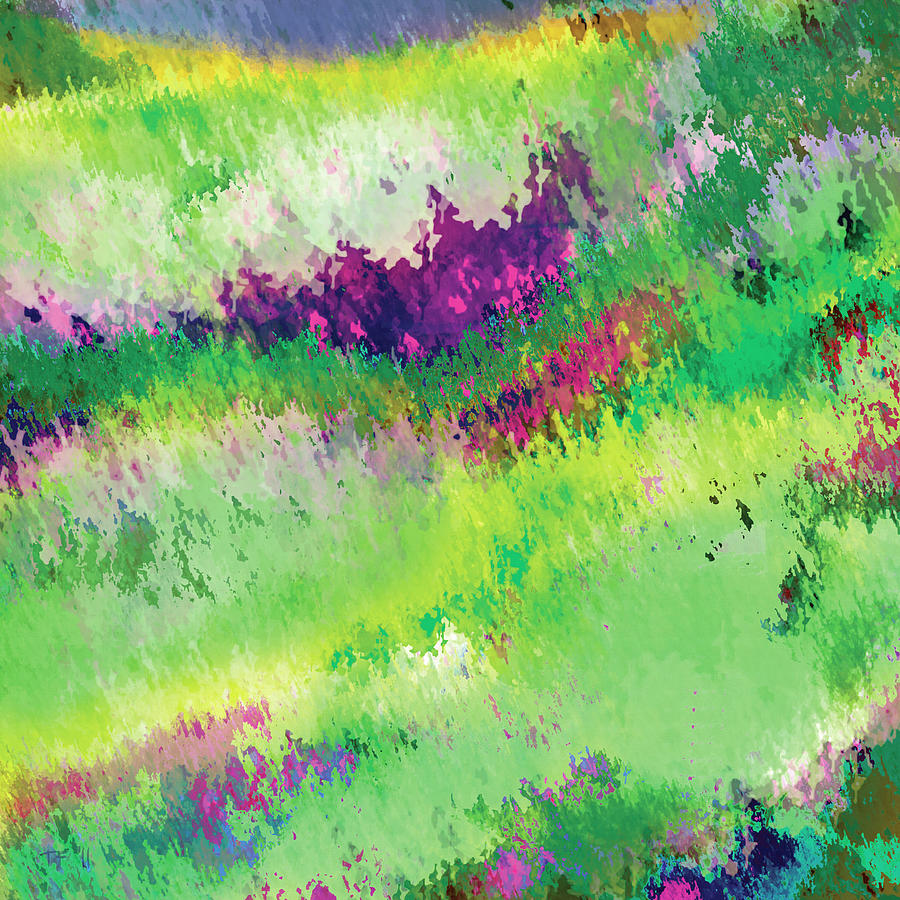 Spring Digital Art - Spring Hillside by Timothy Ferguson