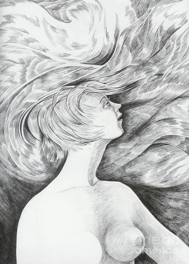 Fantasy Drawing - Spring I by Anna  Duyunova