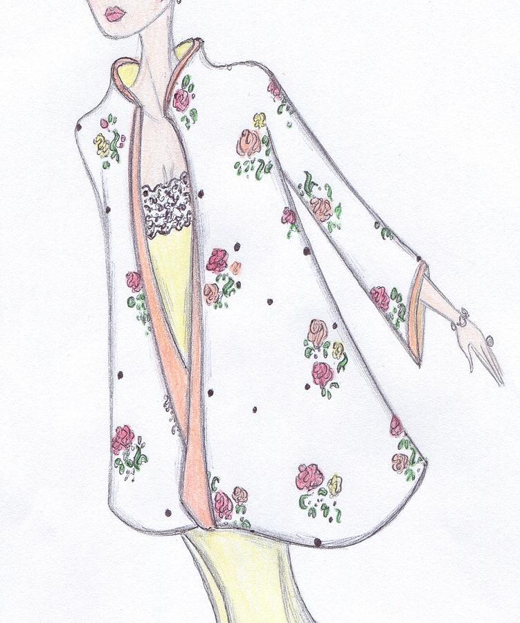 Fashion Illustration Drawing - Spring In Bloom by Christine Corretti