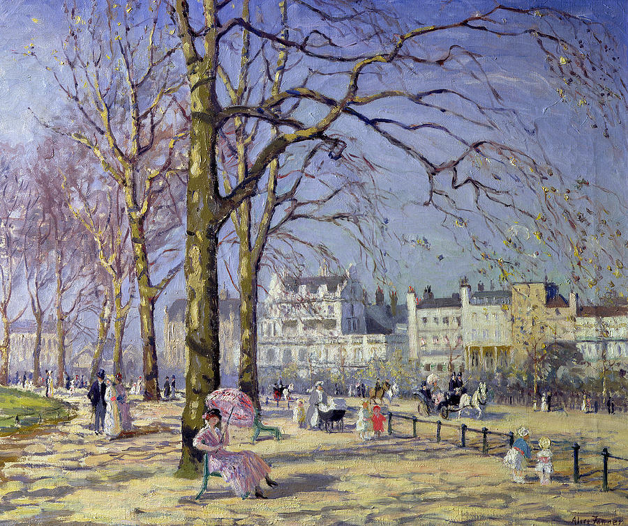 Spring Painting - Spring In Hyde Park by Alice Taite Fanner