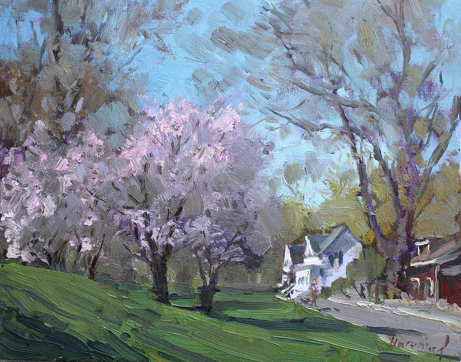 Spring Painting - Spring In J C Saddington Park by Ylli Haruni