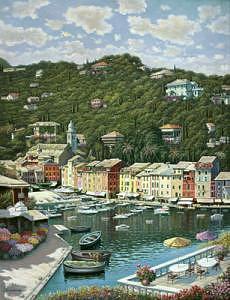 Spring In Portofino Painting by Suleyman Mavruk