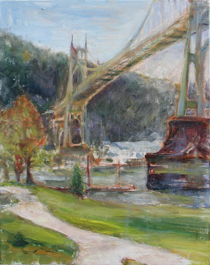 Spring in Cathedral Park - Original Contemporary Impressionist Painting by Quin Sweetman