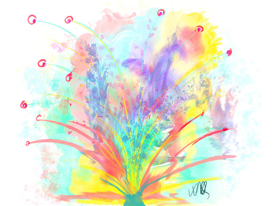 Vase Painting - Spring in the Air by Angela Stanton