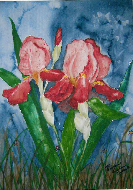 Floral Painting - Spring In The Air by Vivian Esler Trout