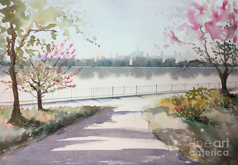 Blooming Trees Painting - Spring In The City by Yohana Knobloch