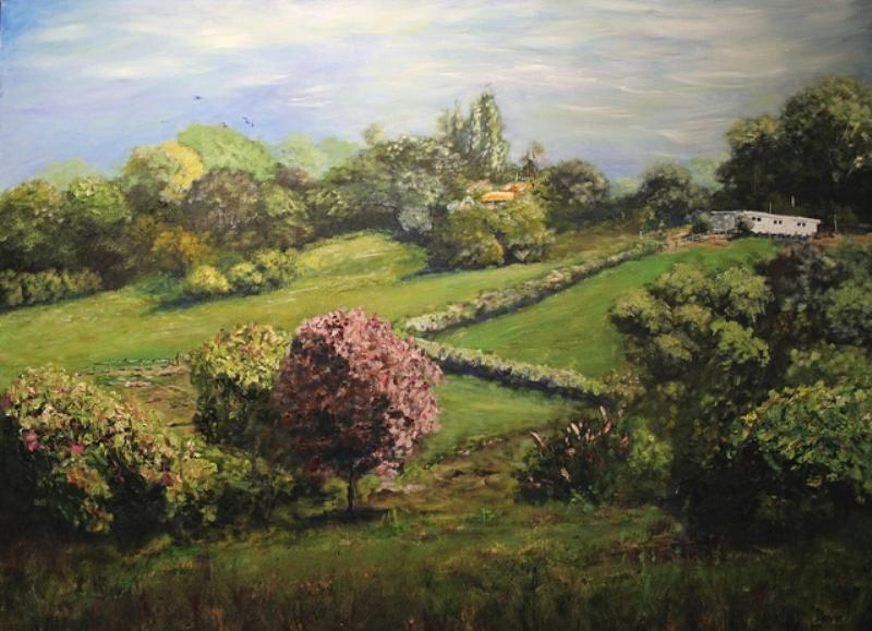 Landscape Painting - Spring In The Hills by Dave Manning