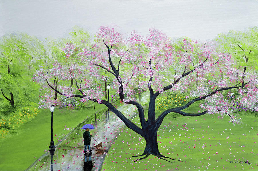 Spring Painting - Spring In The Park by Ken Figurski