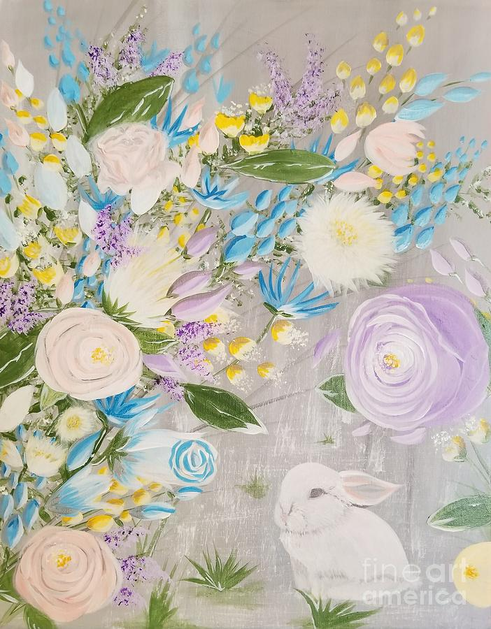 Easter Painting - Spring Into Easter by Roxane Gabriel