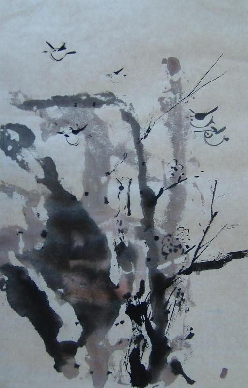 Spring Is Here Painting by Feng Jie Hu