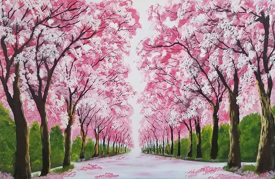 spring is in the air painting by deepa sahoo