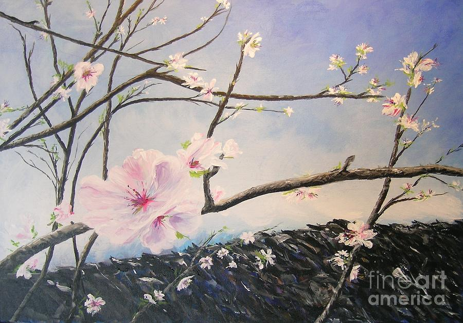 Flower Painting - Spring Is In The Air by Lizzy Forrester