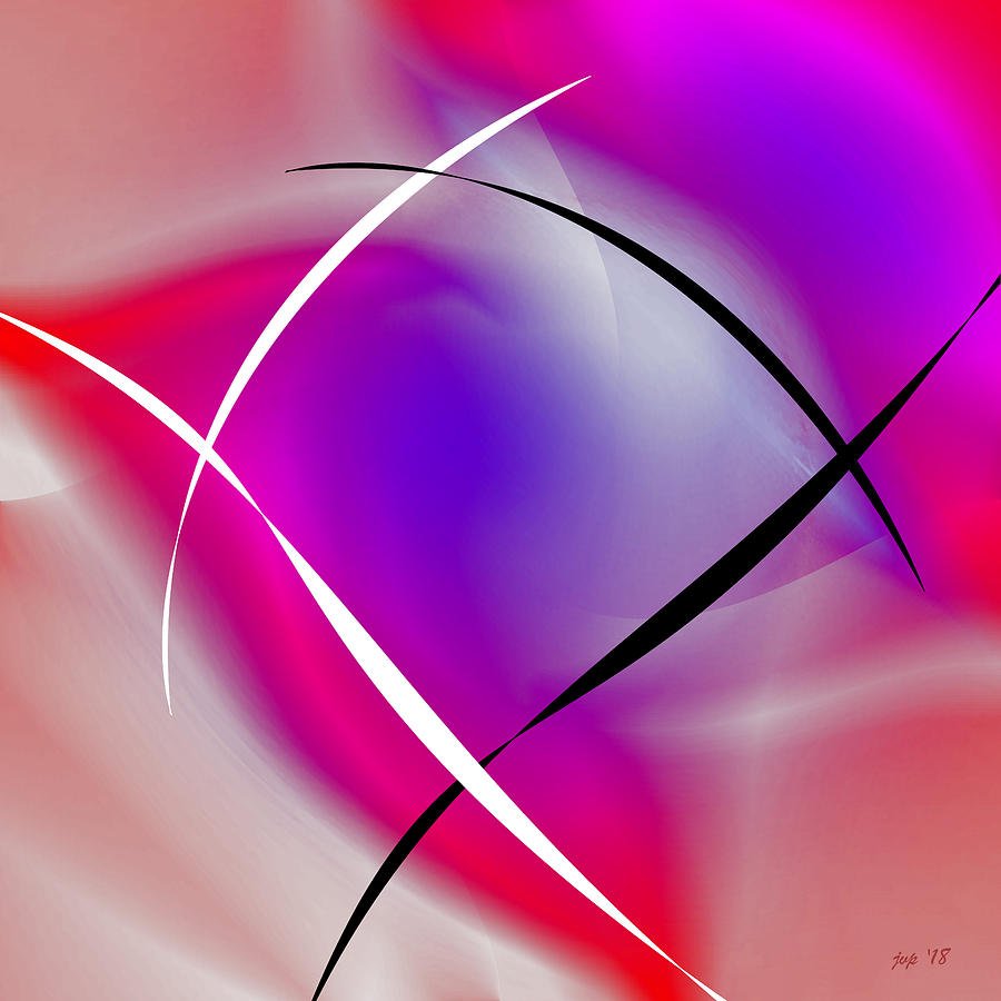 Abstract Digital Art - Spring by Jennspoint