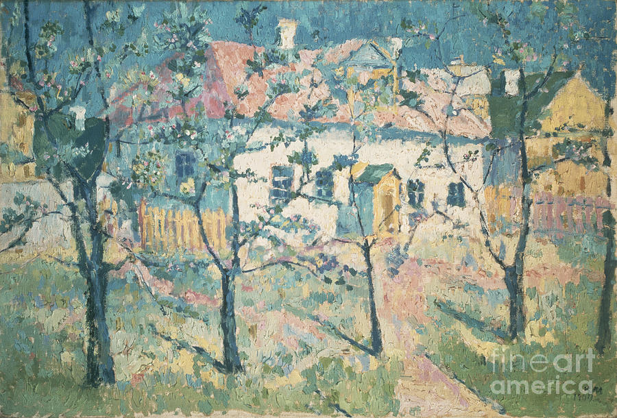 Spring Painting - Spring by Kazimir Severinovich Malevich