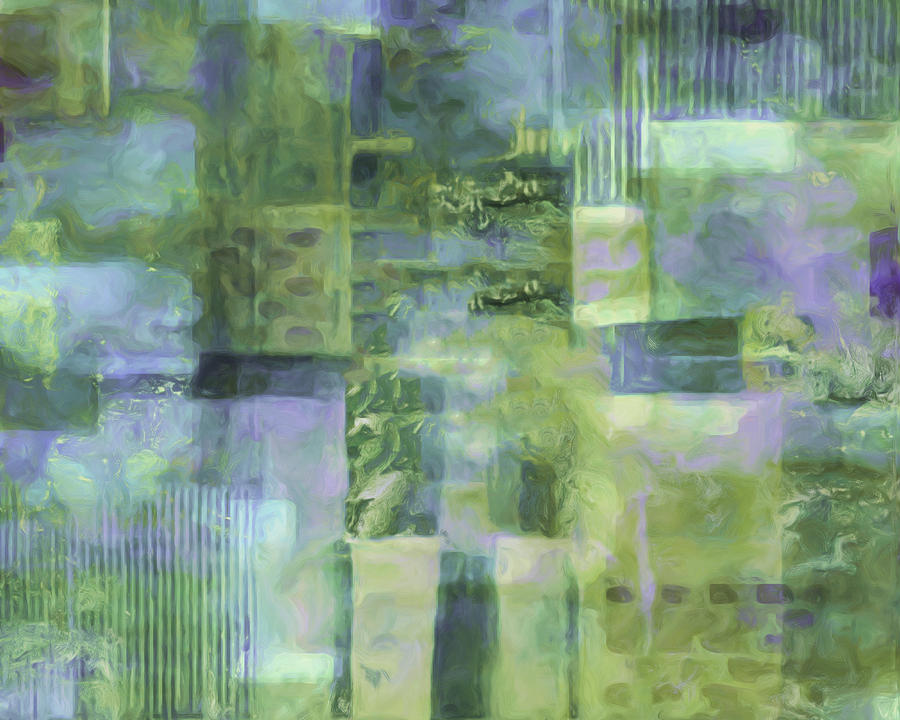 Abstract Painting - Spring Lime by Lee Ann Asch