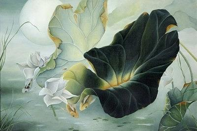 Lotus Painting - Spring Lotus by Ashley Coll