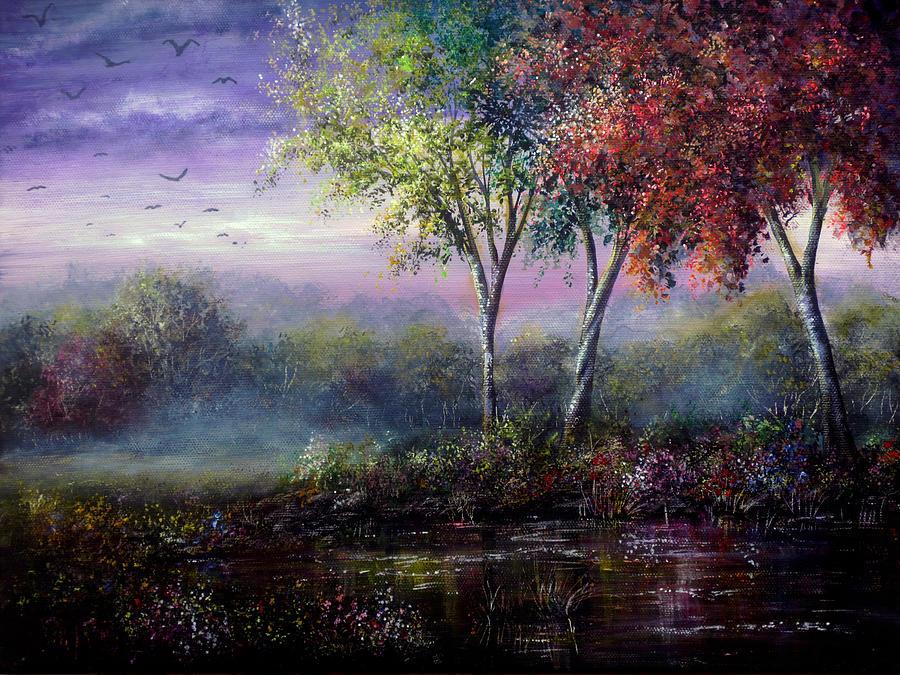 Spring Painting - Spring Magic by Ann Marie Bone