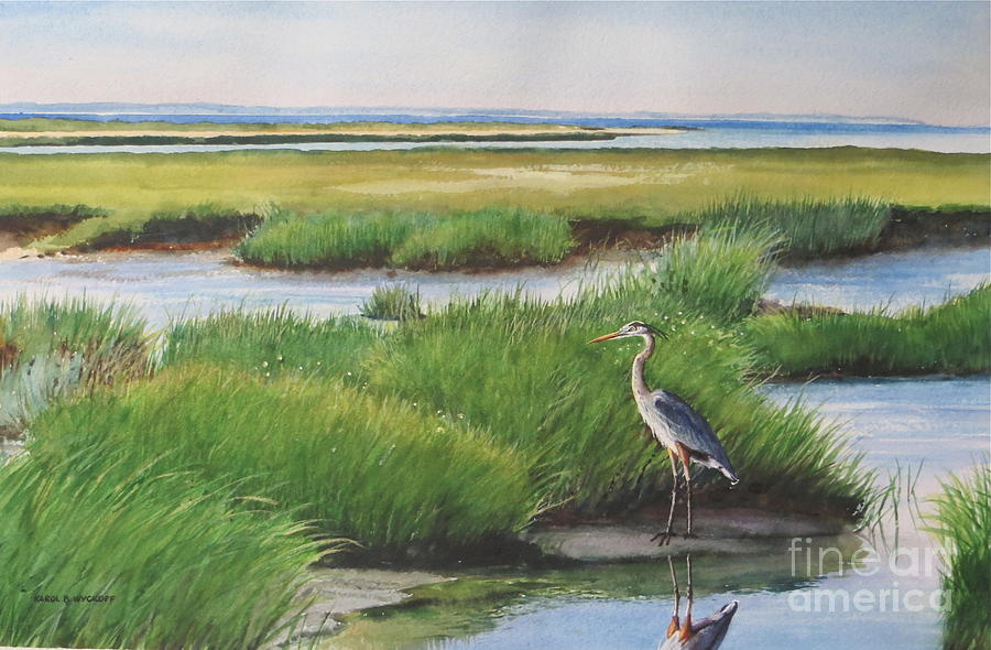 Grasses Painting - Spring Marsh by Karol Wyckoff