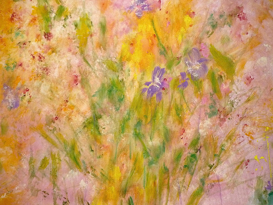 Wildflowers Painting - Spring Meadow by Claire Bull