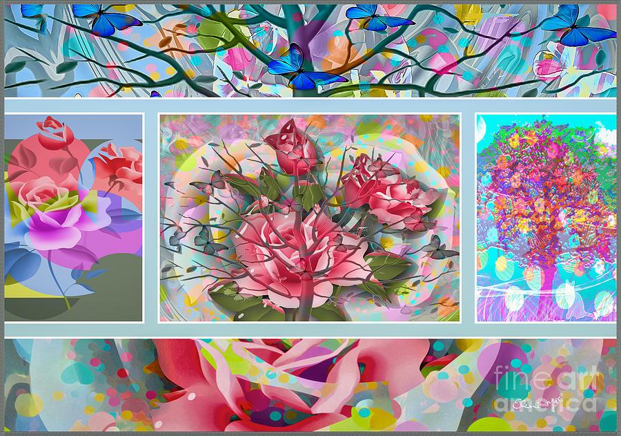 Spring Digital Art - Spring Medley by Eleni Mac Synodinos