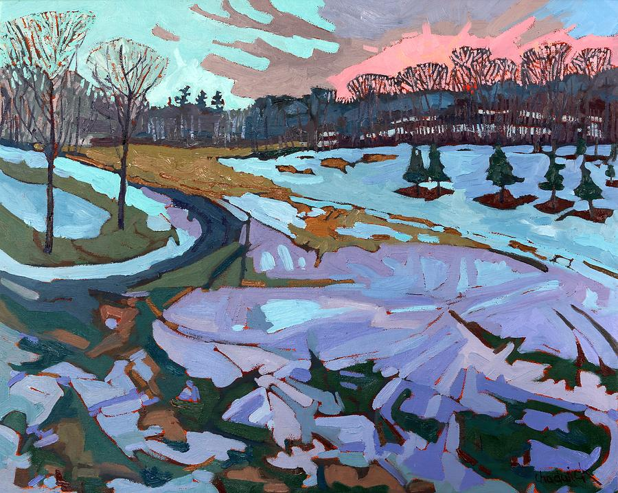 Spring Painting - Spring Melt by Phil Chadwick