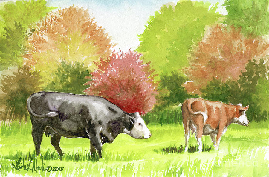 Spring Morning Graze by Linda L Martin