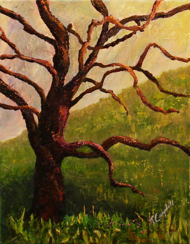 Tree Painting - Spring On Figueroa Mt. by Trish Campbell