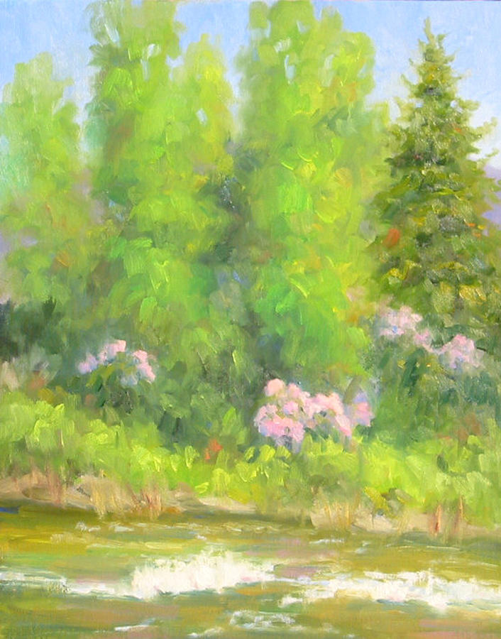 Landscape Painting - Spring On Gore Creek by Bunny Oliver