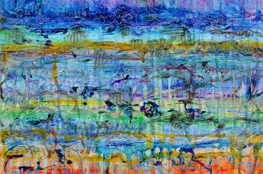 Jupiter Painting - Spring On Jupiter And Mars by Regina Valluzzi